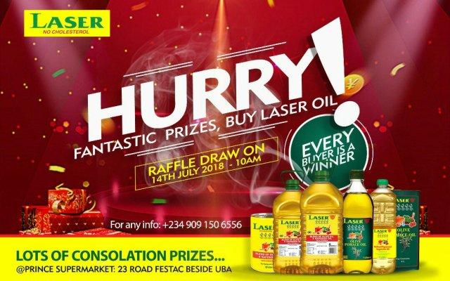 Laser Oil Set To Make Customers Winners In Raffle Draw in Amuwo
