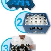 Festival Gadgets Eisblock Bier- und Getränkekühler 0,5 Liter Flaschen