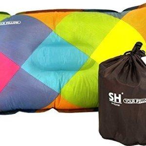 Selbstaufblasendes Kissen für Reisen, Camping und Festivals