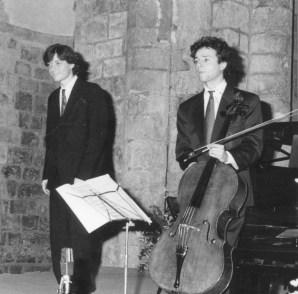 1992 : Marc Coppey, violoncelliste et Emmanuel Strosser, piano
