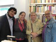 Luis Perozo Cervantes, Gabriela Rosas, Rafael Cadenas y Santos López