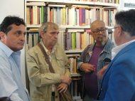 Los poetas Carlos Ildemar Pérez, Rafael CAdenas, Santos López y Víctor Vielma Molina