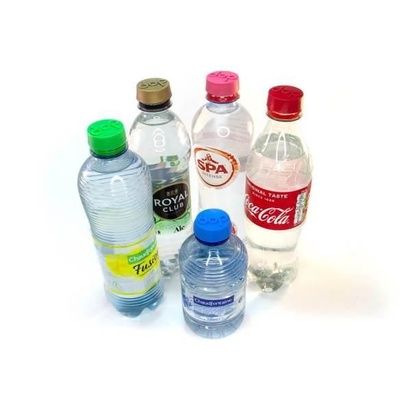 Festivaldop in gebruik op fles