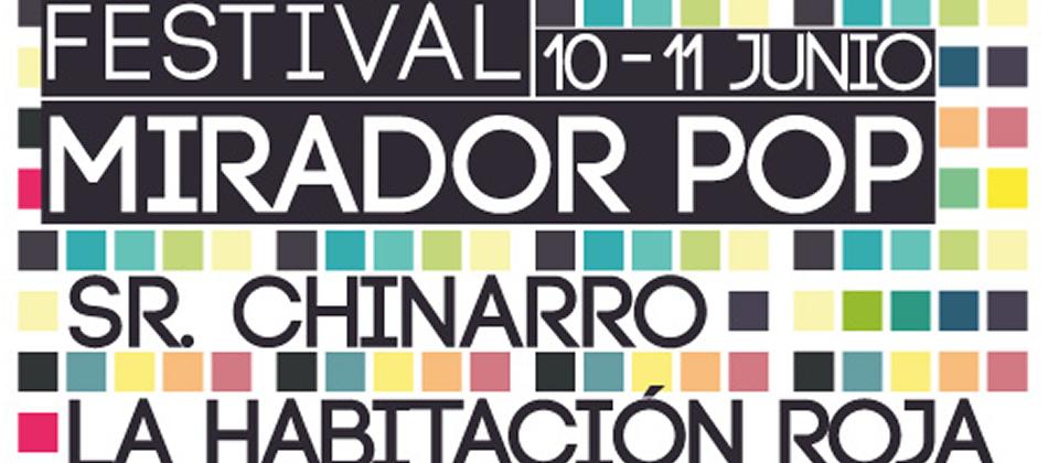 Cartel del festival Mirador pop 2011 de Cádiz