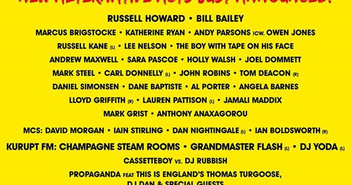 More acts announced for the Alternative Stage including Russell Howard & Bill Ba…