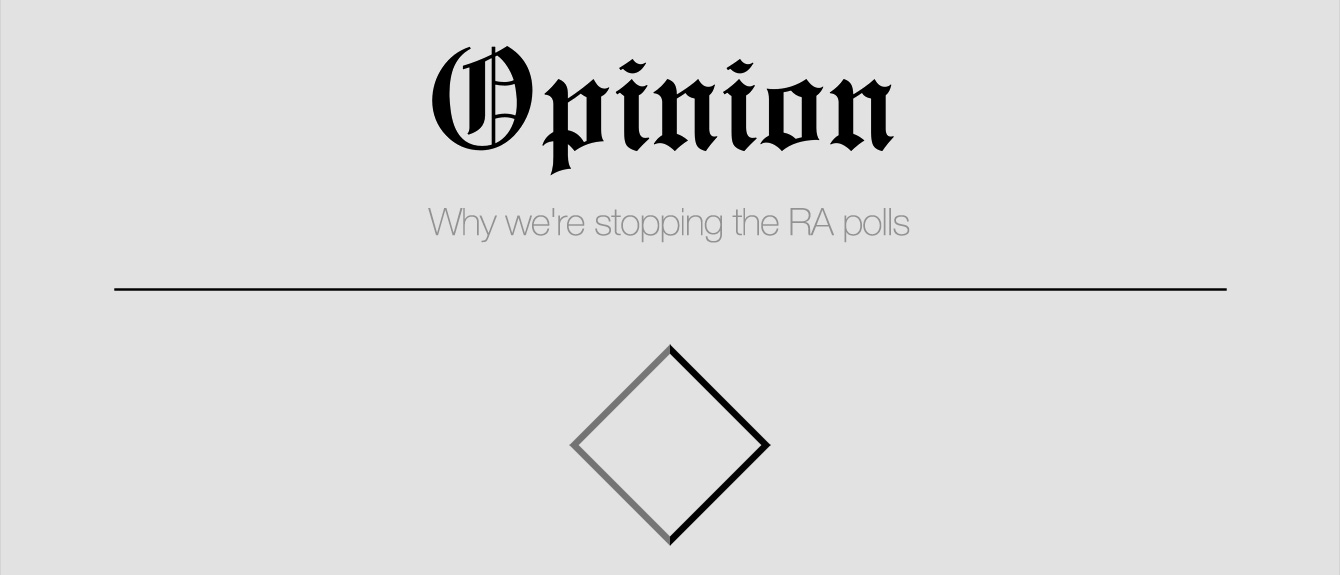 Opinion: Why we're stopping the RA polls
