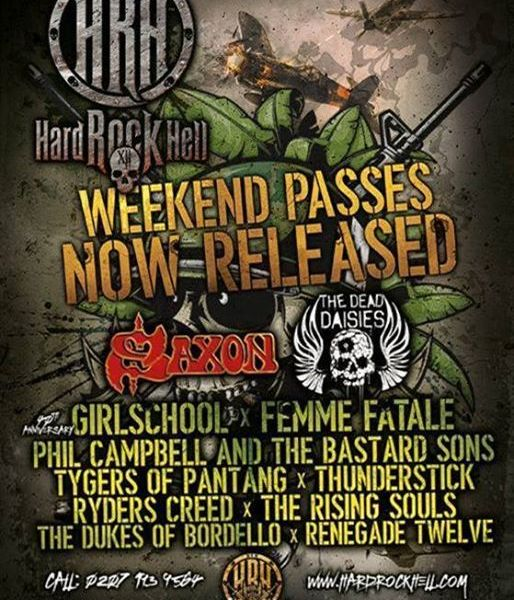 HARD ROCK HELL ANNOUNCES THE FIRST WAVE OF ACTS FOR ITS GLORIOUS TWELFTH!...