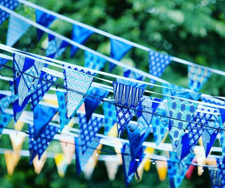 Hand-made bunting. We  our volunteers + we're going to need more sew-ers in the ...