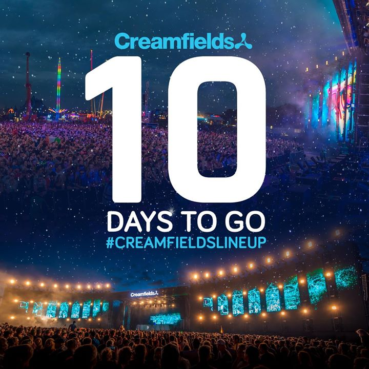 The countdown is on, we announce the  #Creamfields2018 line up in just 10 days!...