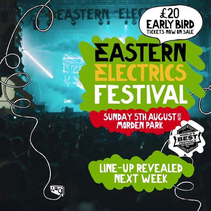 #EasternElectrics Sunday line-up will be released next week, featuring some of ...