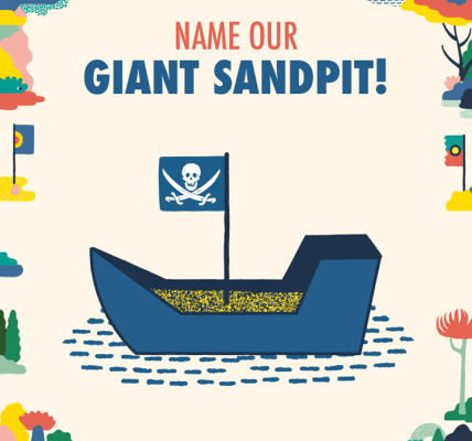We need your help to name our giant sandpit! Post your suggestions in the commen...