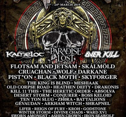 HAMMERFEST XI ANNOUNCES ITS SATURDAY HEADLINER PLUS ANOTHER 18 METAL MASTERS...