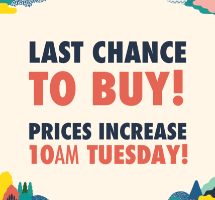 Last chance to buy phase 2 tickets! Common People prices rise at 10am tomorrow, ...