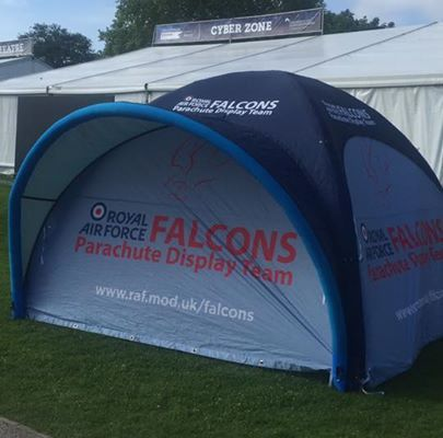 Come and meet the RAF Falcons on site at Imperial Gardens from 11.30am!  #chelts...