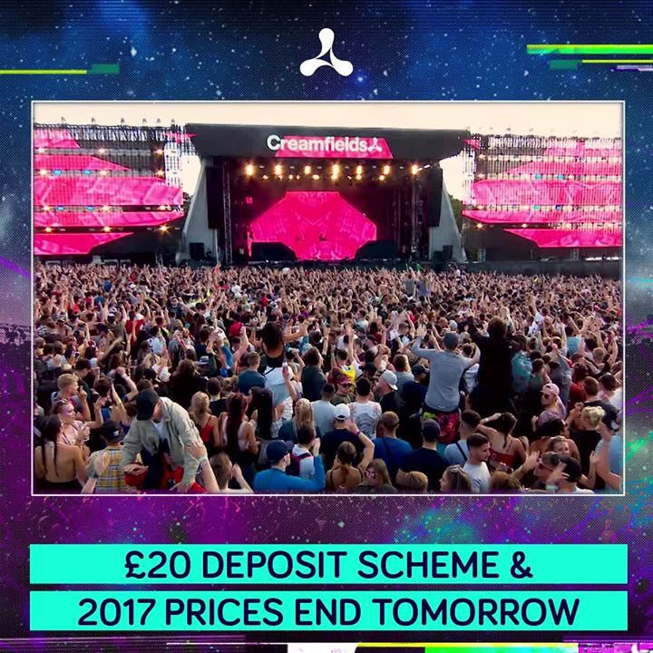 D Day tomorrow.. who's in?  #Creamfields2018  #DontMissOut