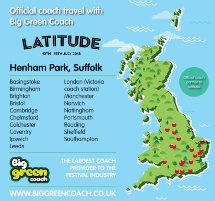 Return coach travel to Latitude 2018 from 20 locations with Big Green Coach!! 🦋 ...