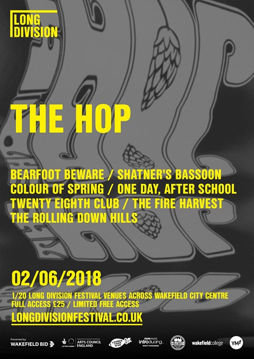Here's the venue poster for The Hop Wakefield - if the weather is anything like ...