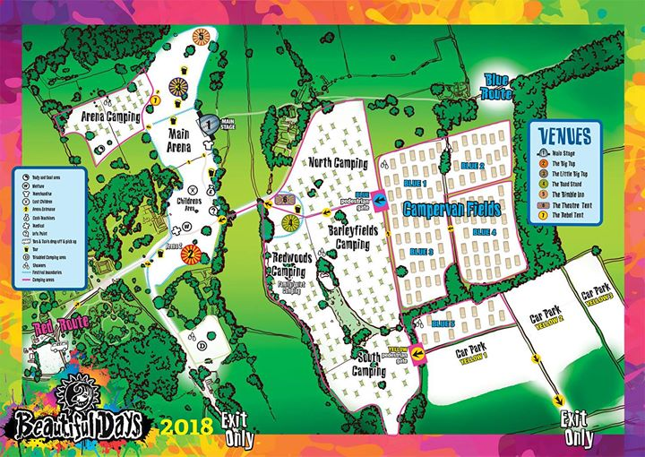 Beautiful Days News: 2018 Site Map…
