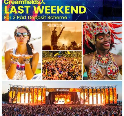 Last weekend for 3 part deposit scheme. Don't miss out on the hottest line up of...