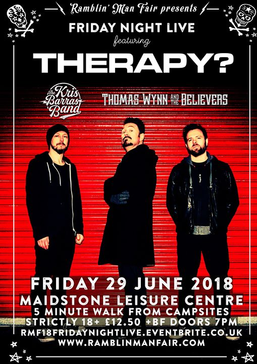 #FridayNightRamble Tonight for your gigging pleasure Ramblers we have Therapy? ...