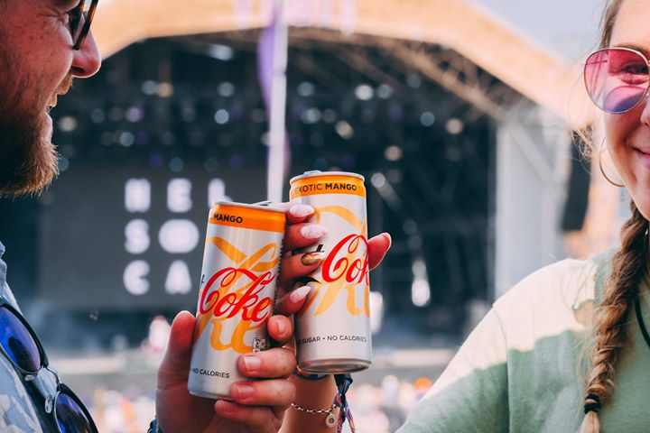 Dance yourself over to the Diet Coke Refresh Tent to pick up a free can of Diet ...