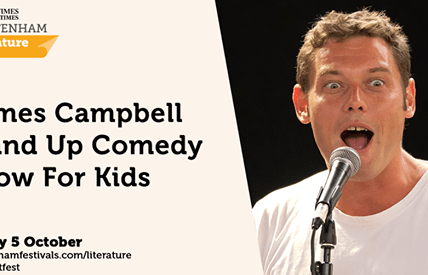 Join James Campbell for guaranteed laughs at #cheltlitfest in our first ever sta...