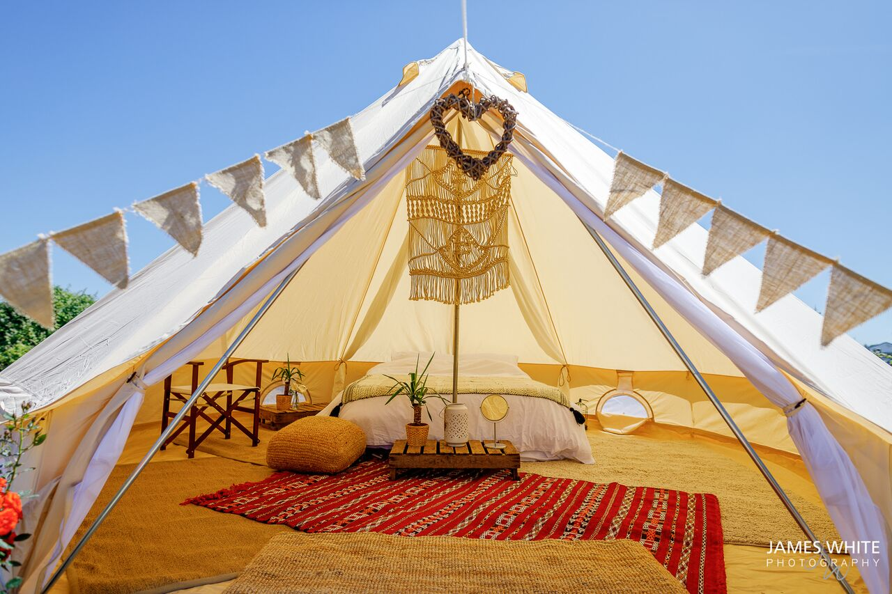 Tee&Toast Glamping   Bell Tent Hire   Teepees   UK   CHAGSTOCK 2019