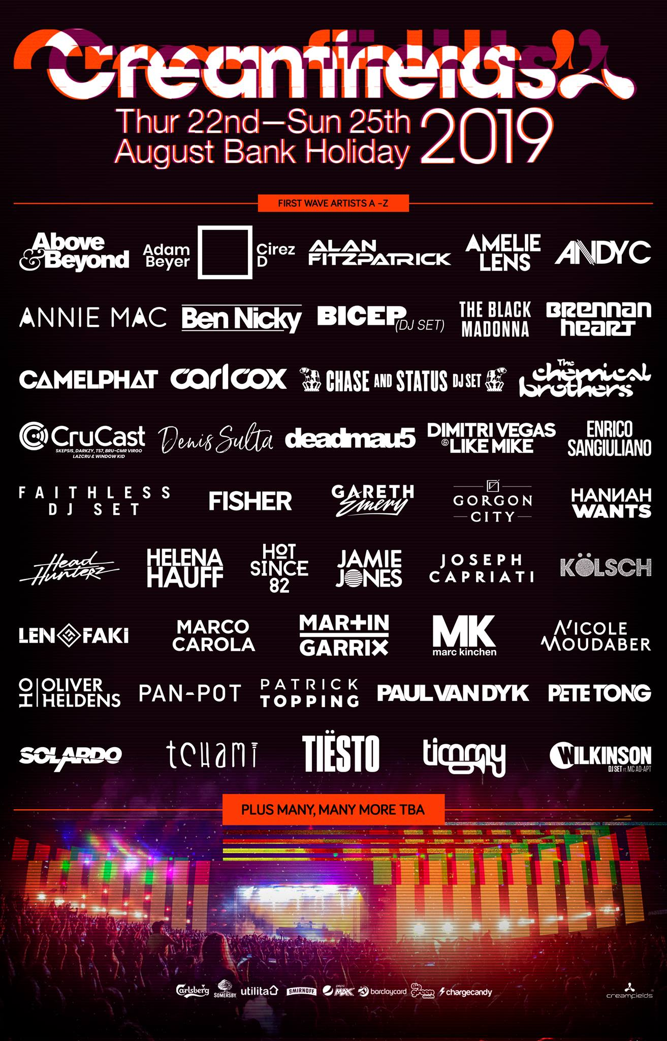 #Creamfields2019 – First wave announced!...