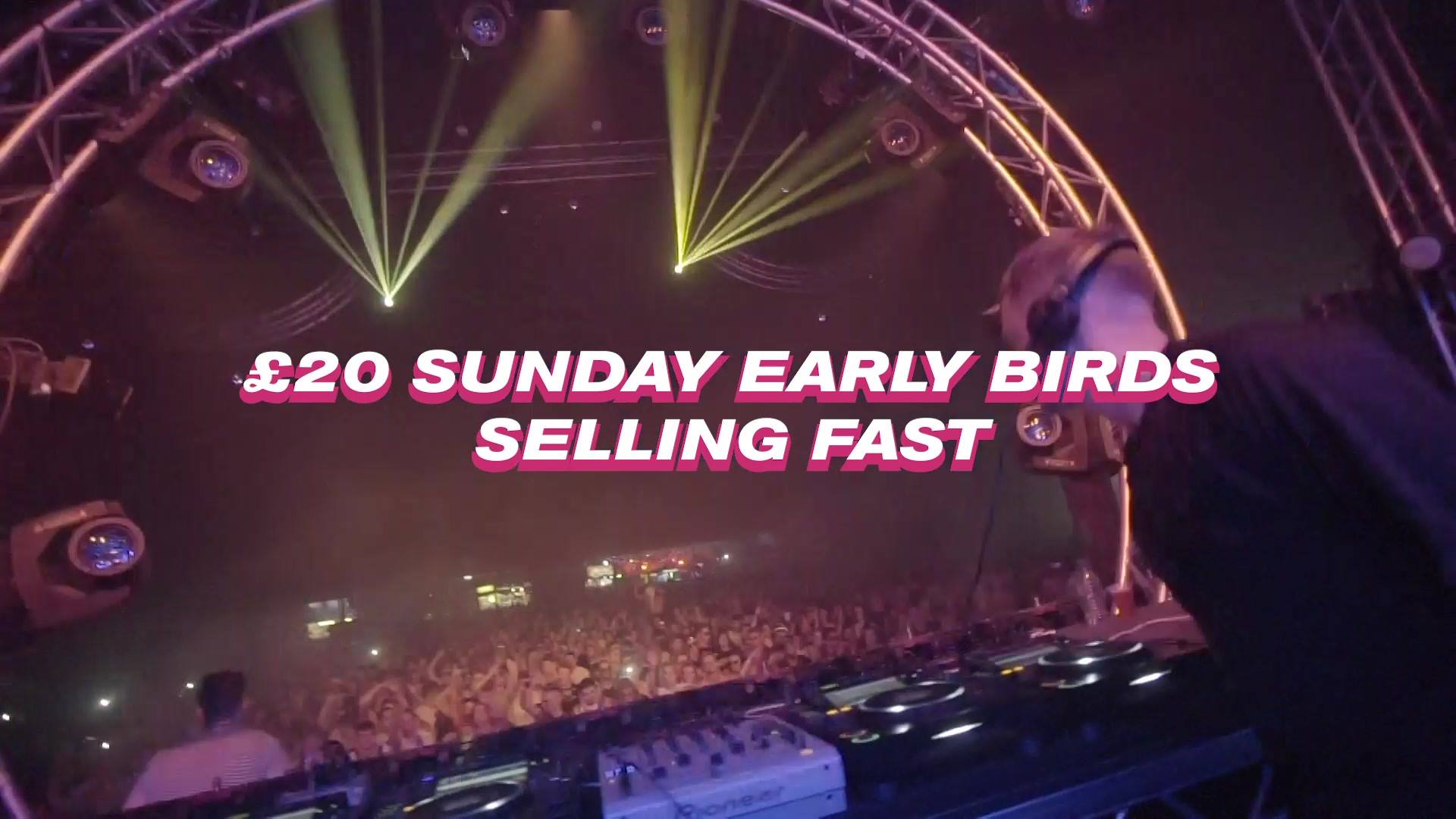 Sunday earlybirds are moving quickly and £29.95 Saturday earlybirds move up to £...