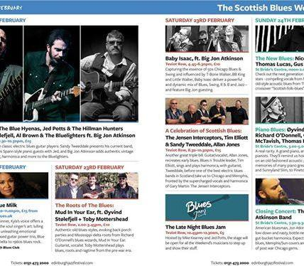 Celebrate Scottish Blues this weekend as the first ever Scottish Blues Festival ...
