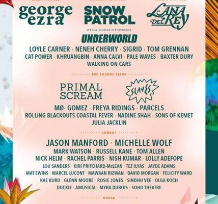 Come and join George Ezra, Snow Patrol, Lana Del Rey, Michelle Wolf, Jason Manfo...