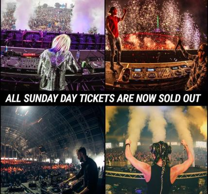 All Sunday Day tickets are now sold out, the fastest Sunday sell out yet!...
