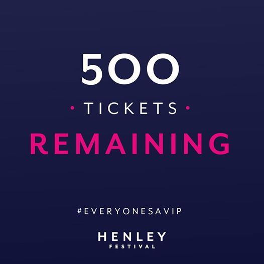 Less than 500 General Admission and Lawn tickets left for Friday 12th July!...