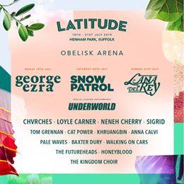 We are thrilled to add 33 more names to your Latitude 2019 music line up!  CHVRC...