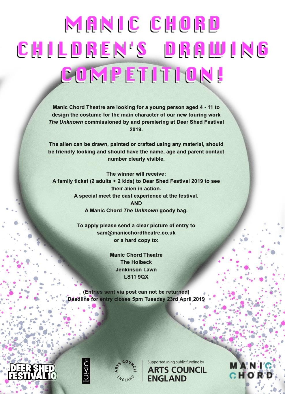 Just 5 days left to enter Manic Chord Theatre's brilliant drawing competition to...