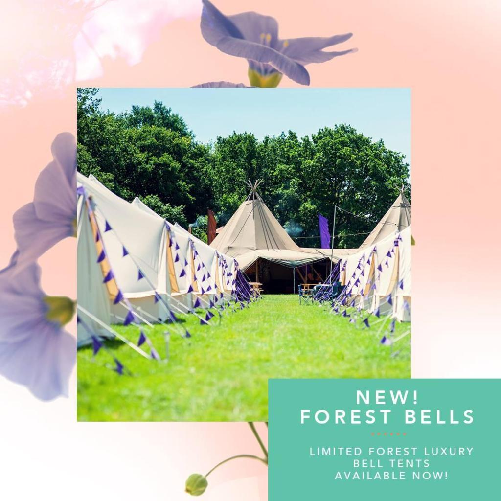 New for 2019!  A limited amount of luxury bell tents are available in a forest e...