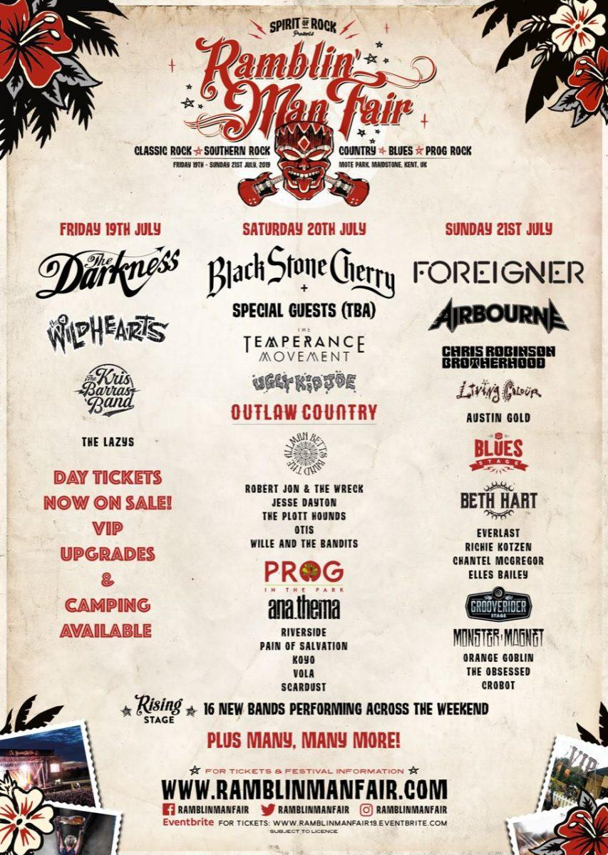So Ramblin' Folk 2019 is looking more like this....With more announcements ...