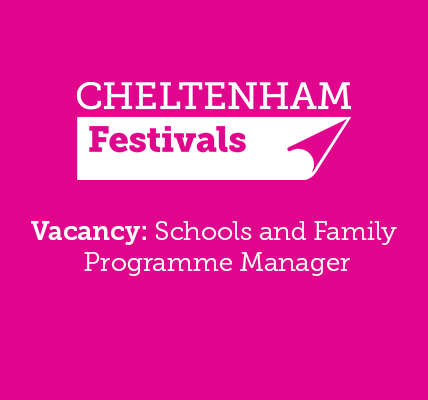 We're on the lookout for a Schools and Family Programme Manager for #cheltscifes...