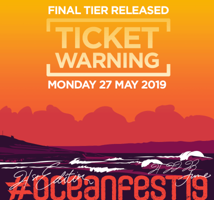 TICKET WARNING!  The final tier of #oceanfest19 tickets will be released on Mond...