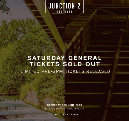 Thank-you to everyone who has bought a ticket to Junction 2 this year! Saturday ...