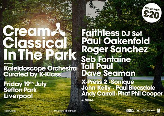 Cream Classical In The Park  Friday 19th July 2019, Sefton Park...