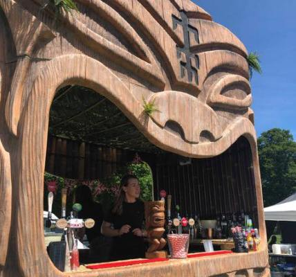 Here's this years Tiki Cocktail Bar in all its glory! I think you'll spot it...