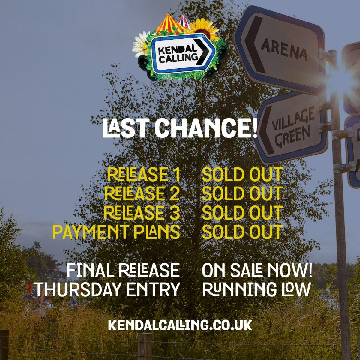 WOW! We're overwhelmed with the response to Kendal Calling 2019 complete and we'...