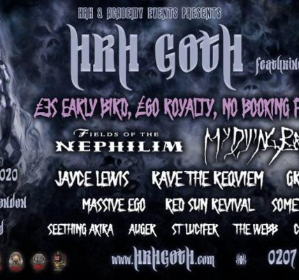 HRH Goth featuring HRH Industrial launches with incredible headliners Fields of ...