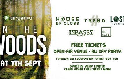 FREE TICKET FOR WOODLAND RAVE