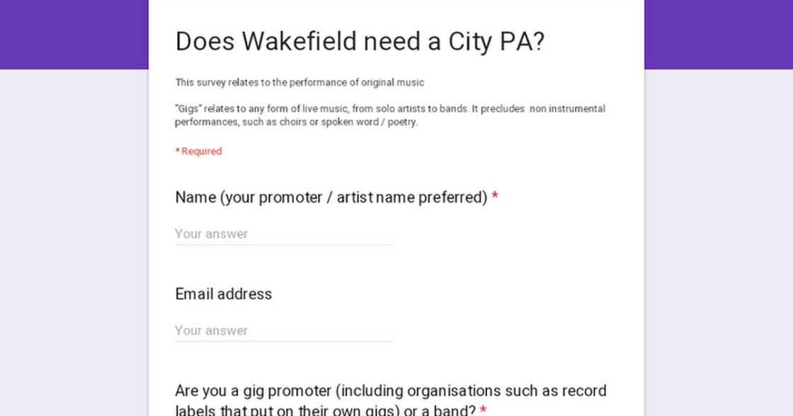 Does Wakefield need a City PA?