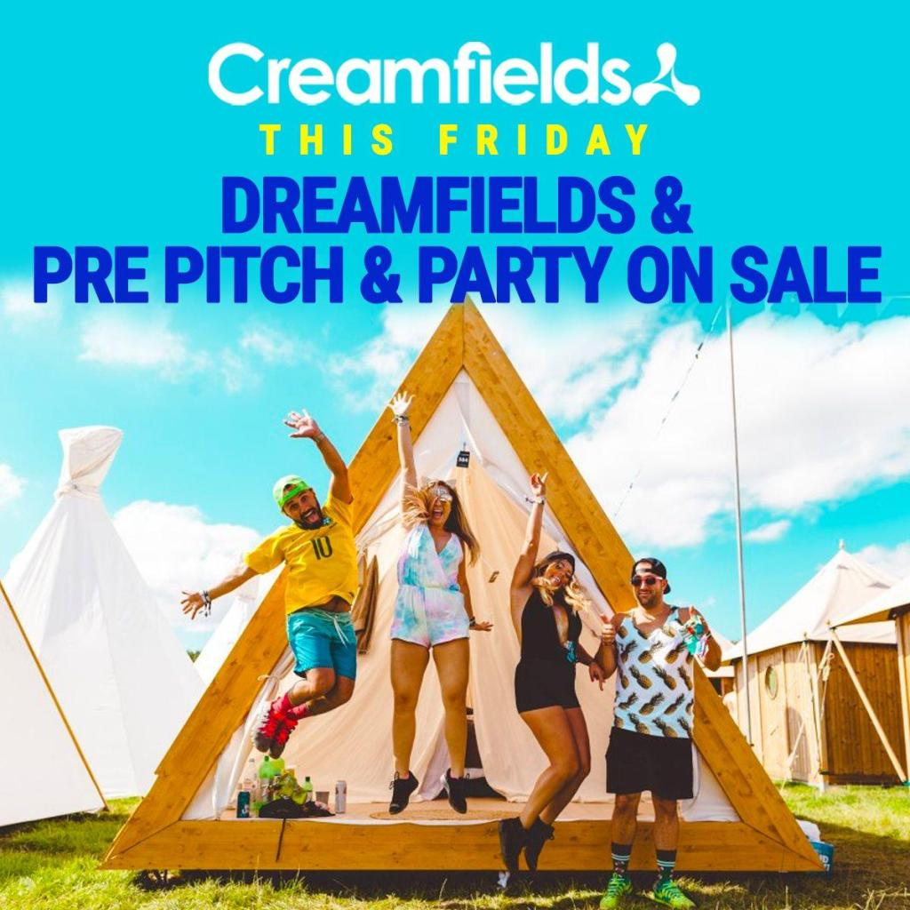Dreamfields & Pre Pitch & Party accommodation on sale this Friday, limit...