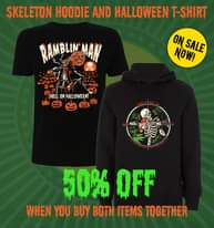 SPECIAL OFFER! Grab our limited edition Halloween T-Shirt & a skull hoodie a...