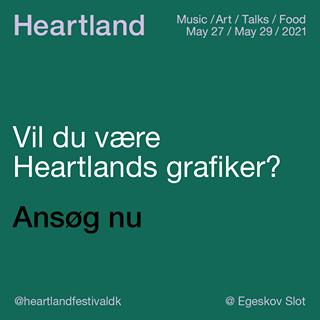 """May be an image of text that says """"Heartland Music /Art/ Talks Food May 27 May May27/May29/2021 29/2021 Vil du vaere Heartlands grafiker? @heartlandfestivaldk Egeskov Slot"""""""