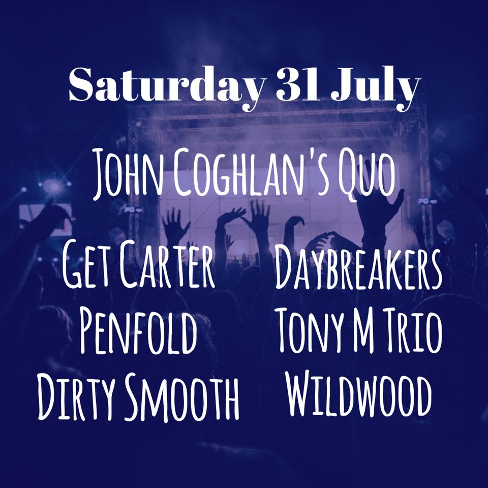 Here is our fantastic Saturday night lineup. The fabulous John Coghlan's Quo sup...